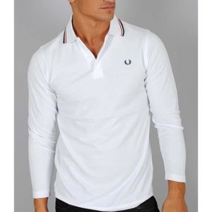 POLO Fred Perry Polo Homme Blanche Manches longues