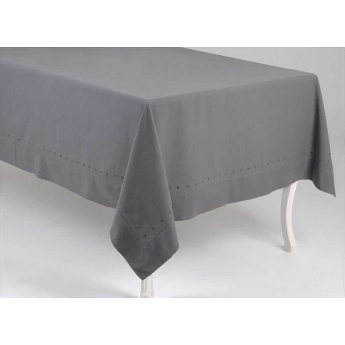 Nappe carree anthracite 100 coton achat vente nappe for Nappe pour table carree