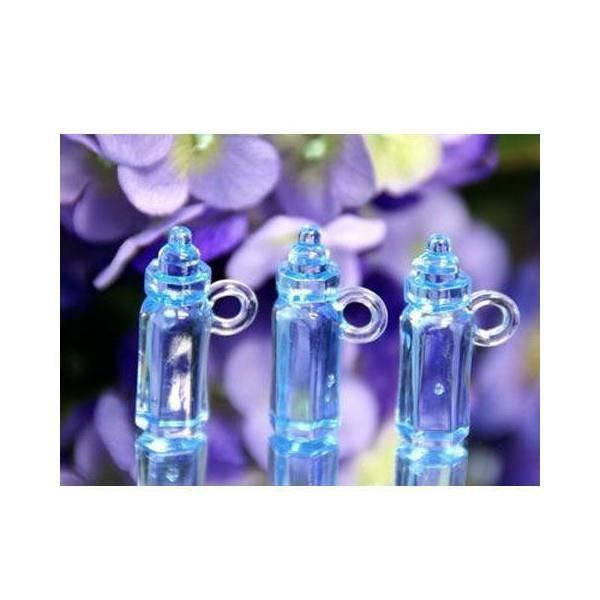 10 petites biberons deco bapteme bleu achat vente for Decoration bapteme bleu