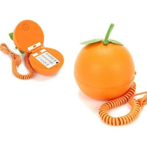 telephone fixe fantaisie forme orange fruit achat vente t l phone fixe telephone fixe. Black Bedroom Furniture Sets. Home Design Ideas