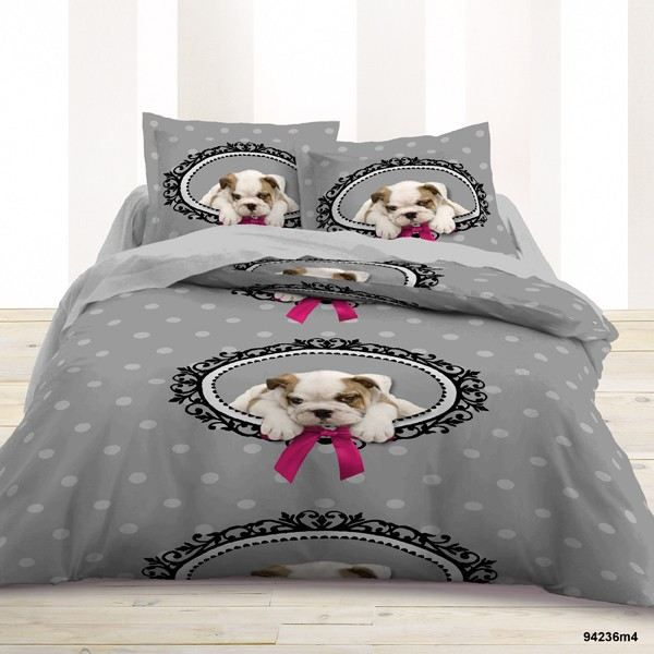 Today housse 220x240cm 2 taies doggy love achat - Today housse de couette ...
