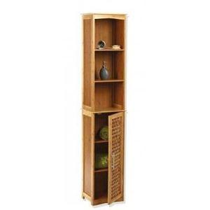Meuble de salle de bain en bambou achat vente meuble for Colonne salle de bain en bambou