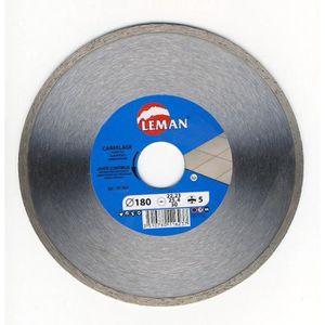 Disque diamant pro 180 mm carrelage leman 901804 achat for Disque meuleuse pour couper carrelage