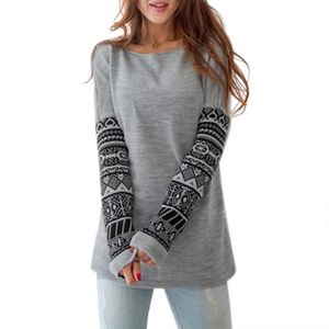 SWEATSHIRT Sweatshirt  femme Motif Imprimé sur les manches lo