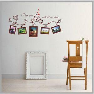 COFFRET THÉMATIQUE VINUS@L'amour des oiseaux photo frame sticker café