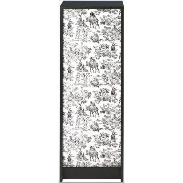 classeur rideau 37 8 cm noir imprim toile de jouy. Black Bedroom Furniture Sets. Home Design Ideas
