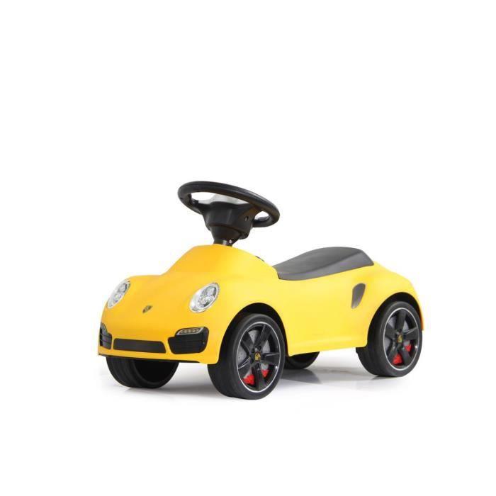 porteur petite voiture pousseur b b porsche 911 jaune achat vente porteur pousseur. Black Bedroom Furniture Sets. Home Design Ideas