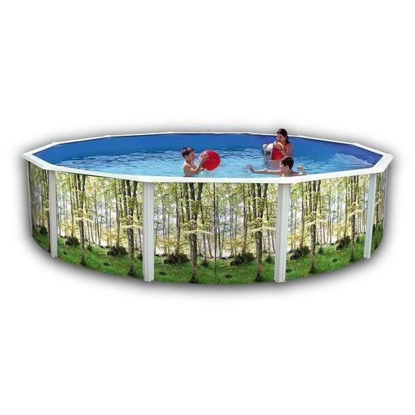 For t piscine en acier circulaire 460x120 achat vente for Poolfolie 460 x 120
