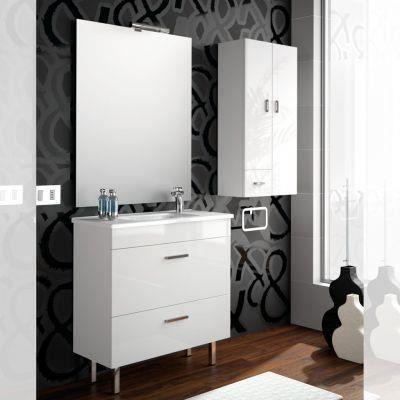Meuble salle de bain 80 cm couleur blanc achat vente for Meuble salle de bain 80 cm blanc
