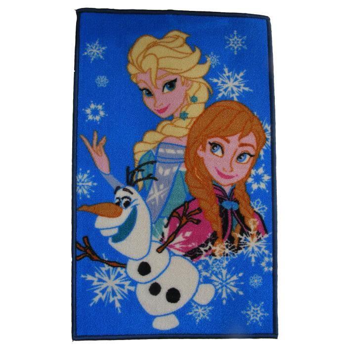 La reine des neiges disney tapis 140x80cm motif elsa anna olaf achat vente tapis de Tapis reine des neiges