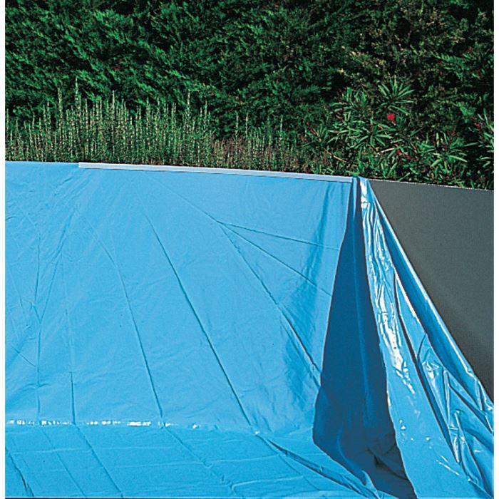 Liner bleu uni overlap pour piscine acier 3 achat for Liner piscine diametre 3 50