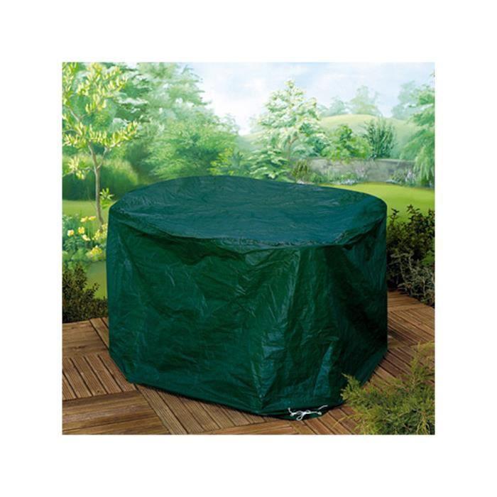 Housse de salon de jardin rond 140 x 94 cm achat vente housse meuble jardin housse de - Bache pour salon de jardin rond ...