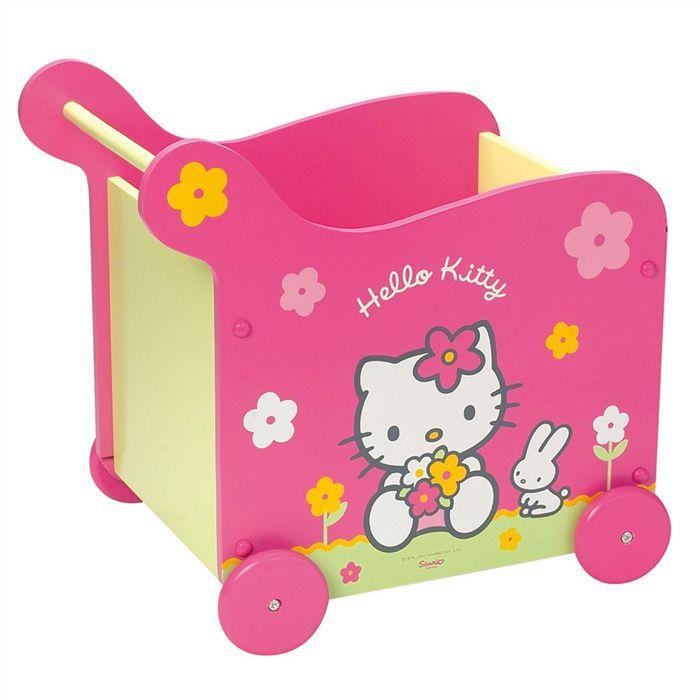 hello kitty coffre jouet sur roulettes achat vente coffre jouets 3700057112387 cadeaux. Black Bedroom Furniture Sets. Home Design Ideas