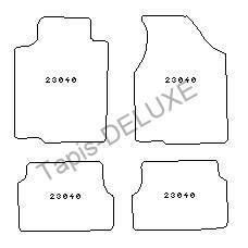 Ford probe 12 90 12 92 4 tapis en moquette bleu achat for Moquette imprimee en 92 coloris