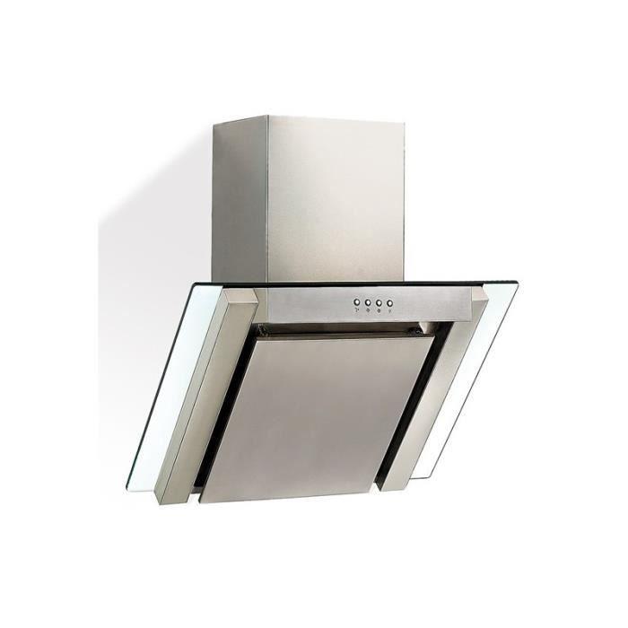 hotte aspirante chemin e inox verre 2001017 achat vente hotte cdiscount. Black Bedroom Furniture Sets. Home Design Ideas
