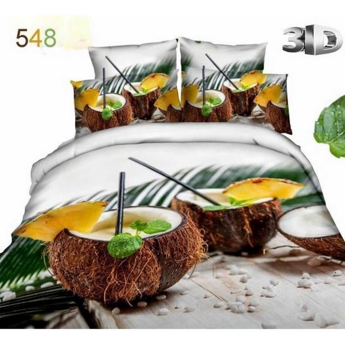 parure voyageur 3d achat vente pack linge de lit cdiscount. Black Bedroom Furniture Sets. Home Design Ideas