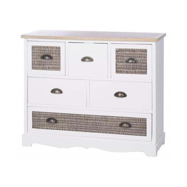 Meuble de rangement 6 tiroirs achat vente petit meuble - Meuble rangement cdiscount ...