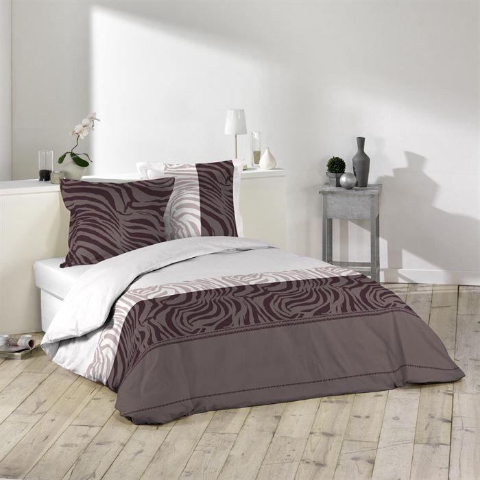 parure de lit 3 pi ces 240x220 zebra achat vente. Black Bedroom Furniture Sets. Home Design Ideas