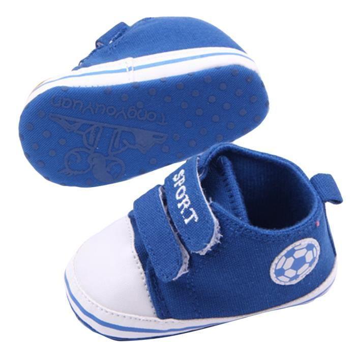 b b gar on fille chaussure premier pas en toile 0 1an bleu bleu bleu achat vente babies. Black Bedroom Furniture Sets. Home Design Ideas