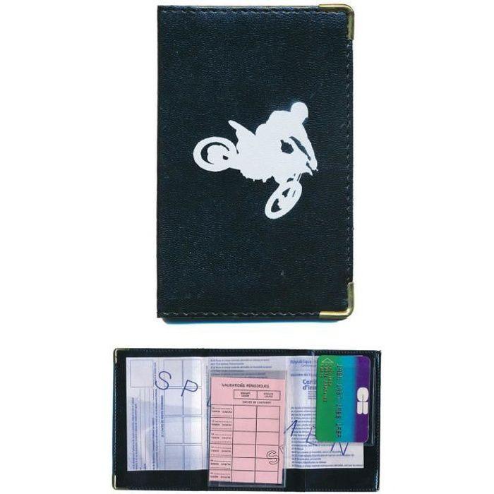 pochette etui protection porte carte grise papiers voiture permis de conduire moto cross. Black Bedroom Furniture Sets. Home Design Ideas