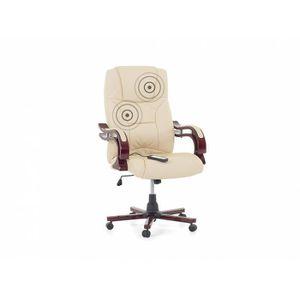 CHAISE DE BUREAU Fauteuil massant - chaise de bureau - cuir beige -