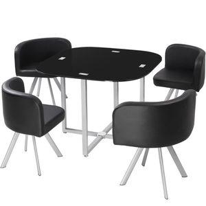 TABLE A MANGER COMPLET Table et chaises Mosaic 90 Noir