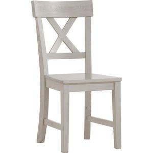 chaise en pin blanc achat vente chaise en pin blanc pas cher cdiscount. Black Bedroom Furniture Sets. Home Design Ideas