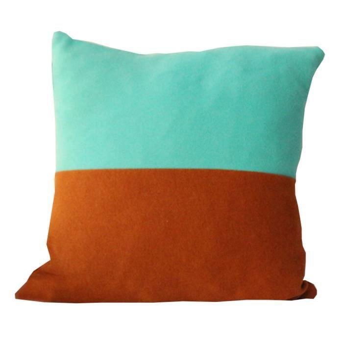 go4u housse de coussin taie oreille 45 45cm caf bleu rayures maison canap d cor coton linen. Black Bedroom Furniture Sets. Home Design Ideas