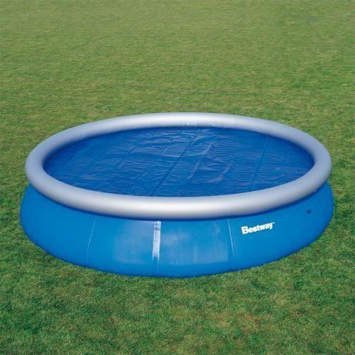 Bache solaire de protection piscine autoportante ronde o 549 cm achat vente b che for Piscine auto portante