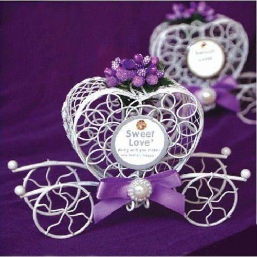 10 carrosse dragees violet mariage - Achat / Vente boîte à dragées ...