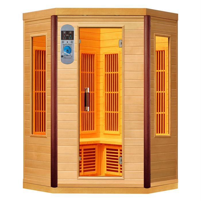 sauna infrarouge d 39 angle prince 2 3 places achat vente kit sauna sauna 2 3 places cdiscount. Black Bedroom Furniture Sets. Home Design Ideas