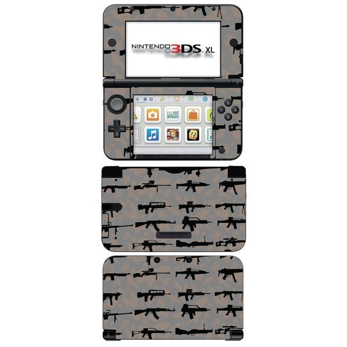 skin stickers pour nintendo 3ds xl sticker weapons. Black Bedroom Furniture Sets. Home Design Ideas