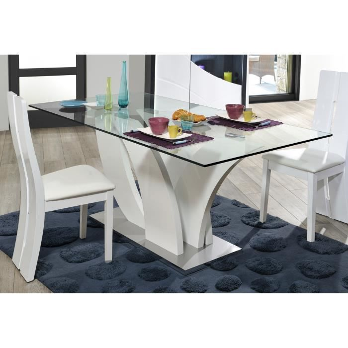 Table de salle manger remy l 200 x p 100 x h 76 cm for Table de salle a manger originale