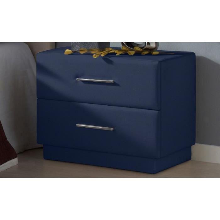 Tables de chevet deco couleur bleu achat vente for Table de chevet bleu