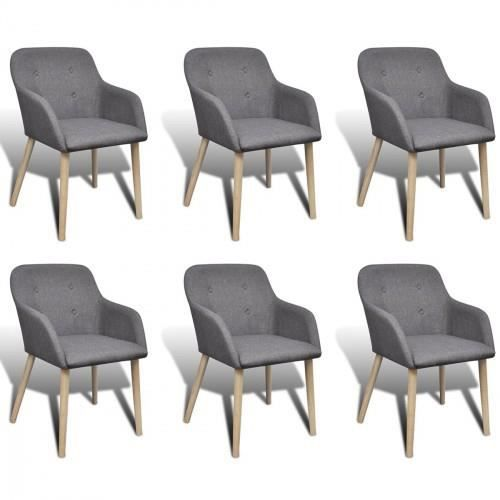 chaise gondole accoudoir int rieur ch ne et tissu 6 pi ces. Black Bedroom Furniture Sets. Home Design Ideas