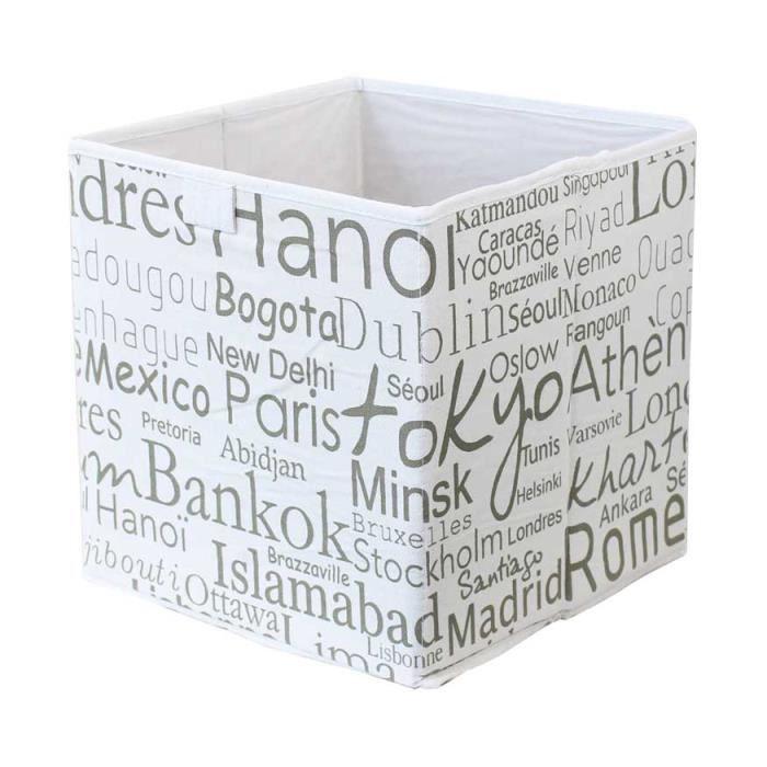 Panier pour cube de rangement en coton impr achat - Panier pour meuble cube ...