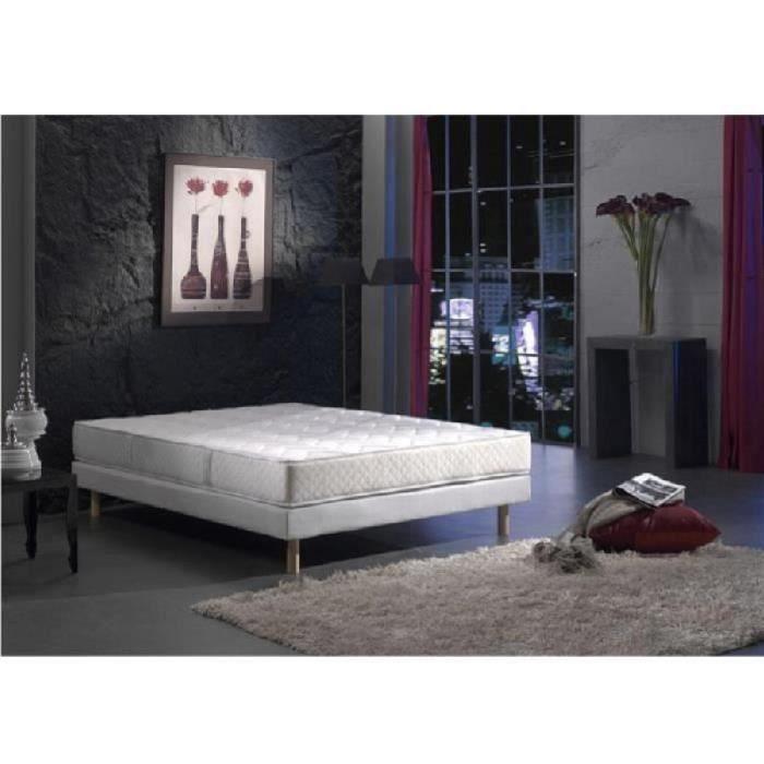 creasom ensemble matelas sommier 140x190cm 23cm 588 ressorts ensach s ferme achat vente. Black Bedroom Furniture Sets. Home Design Ideas