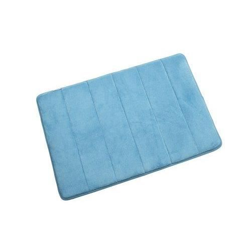 petit tapis de salle de bain en mousse visco lastique bleu 60 x 40 cm achat vente tapis de. Black Bedroom Furniture Sets. Home Design Ideas