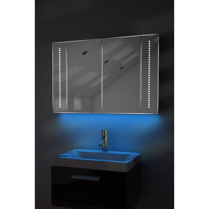 Armoire de salle de bain miroir ambiant capteur et for Vendeur salle de bain