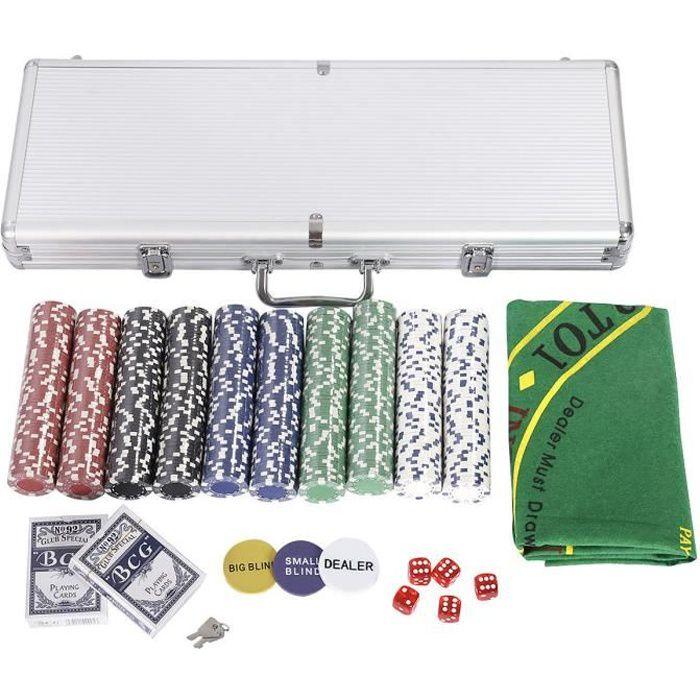 malette de poker malette 500 jetons cartes plastique valise en aluminium achat vente. Black Bedroom Furniture Sets. Home Design Ideas