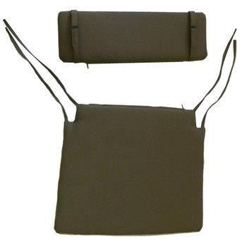 Coussins assise dossier pour chaise pliante t achat for Housse pour assise de chaise