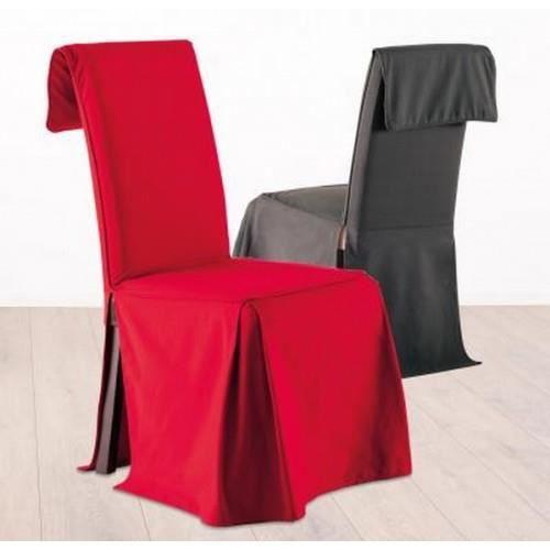 Housse de chaise coton rouge achat vente housse de for Housse de chaise rouge
