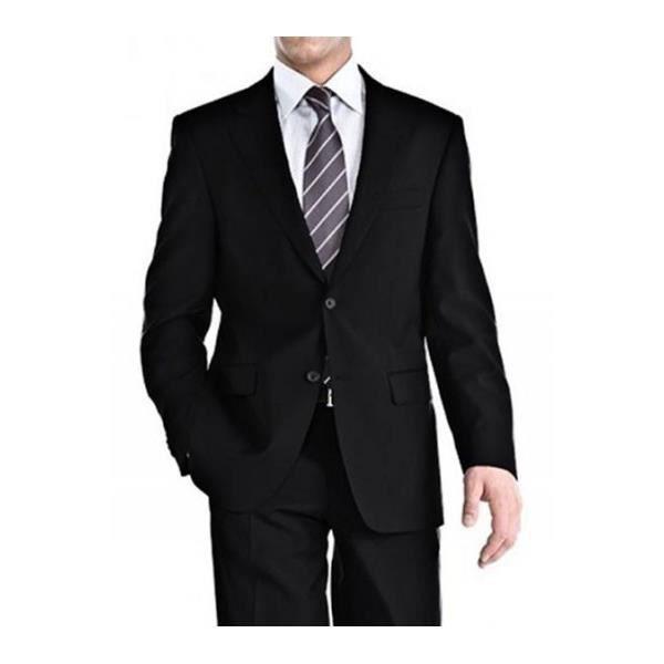 costume cintr 2 boutons noir achat vente costume tailleur cdiscount. Black Bedroom Furniture Sets. Home Design Ideas