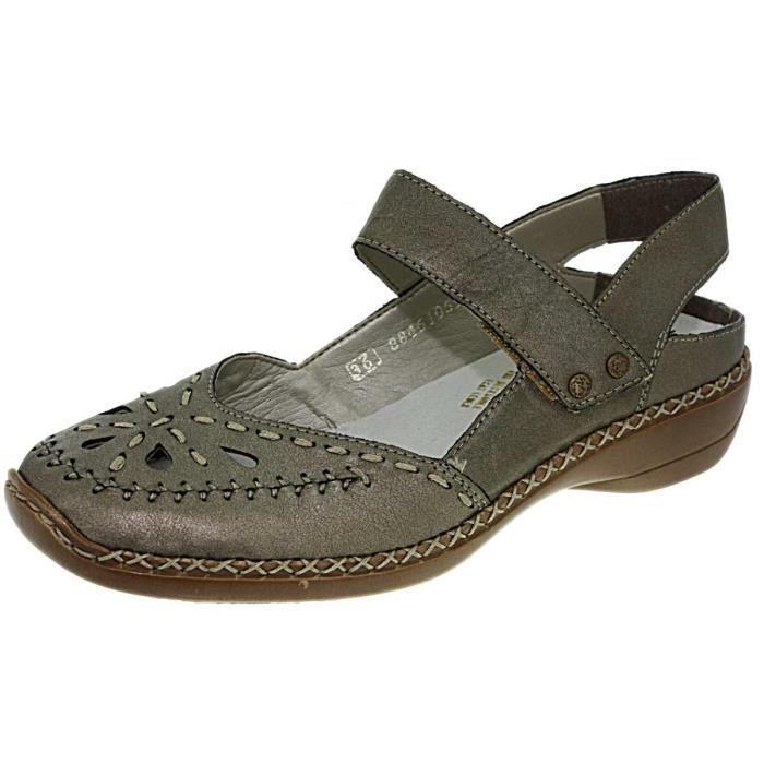 Rieker 41391 bronze, chaussures femme Chaussure ouverte Rieker