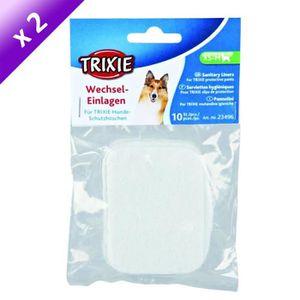 TRIXIE Lot de 2 Serviettes hygiéniques pour chien