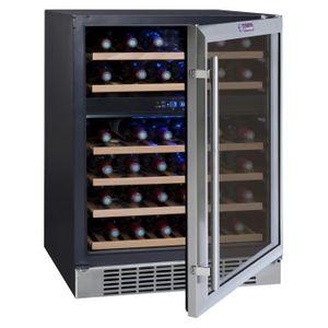 LA SOMMELIERE CVDE46-2 - Cave ? vin de service - 45 bouteilles - Encastrable - Classe C - L 59,5 cm - H 82,8 cm