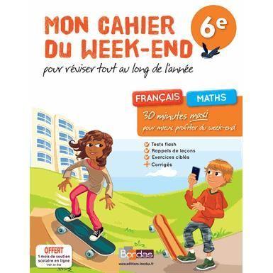 Mon cahier du week end 6e achat vente livre fran oise - Week end port aventura tout compris pas cher ...