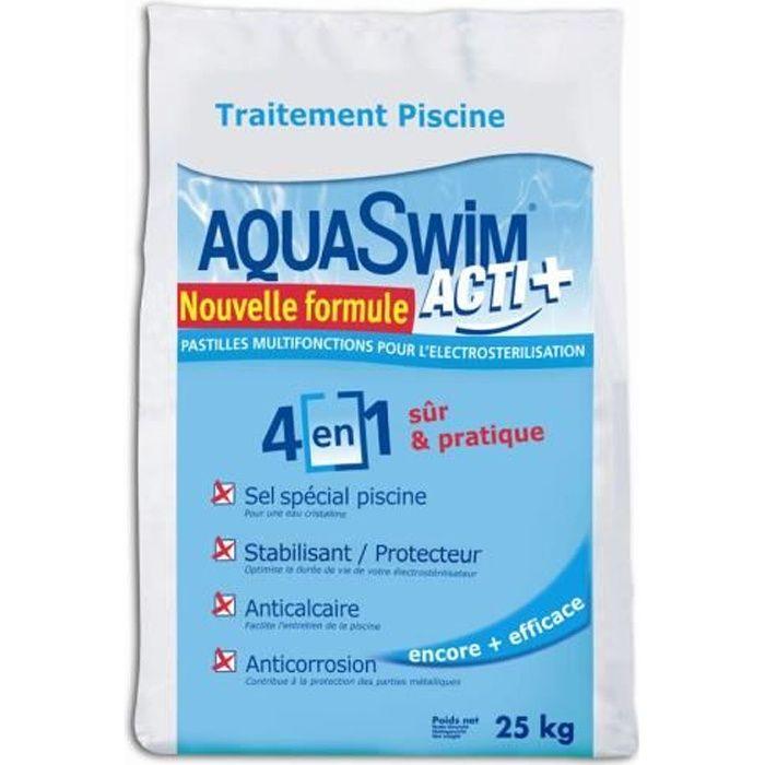 Sel piscine pour lectrolyse aquaswim acti 4 en 1 sac 25 - Electrolyse pour piscine ...