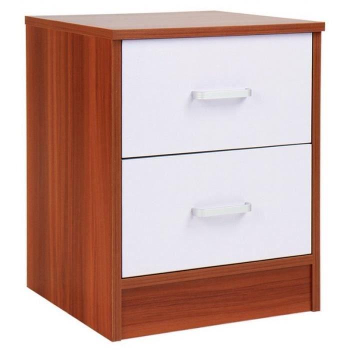 table de nuit chevet avec tiroir armoire meuble chambre 1401055 achat vente chevet table de. Black Bedroom Furniture Sets. Home Design Ideas