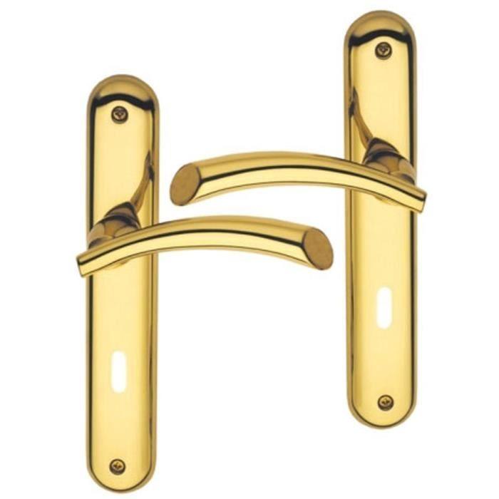 Poign e de porte int rieure design en laiton poli achat - Poignees de porte interieure vente en ligne ...
